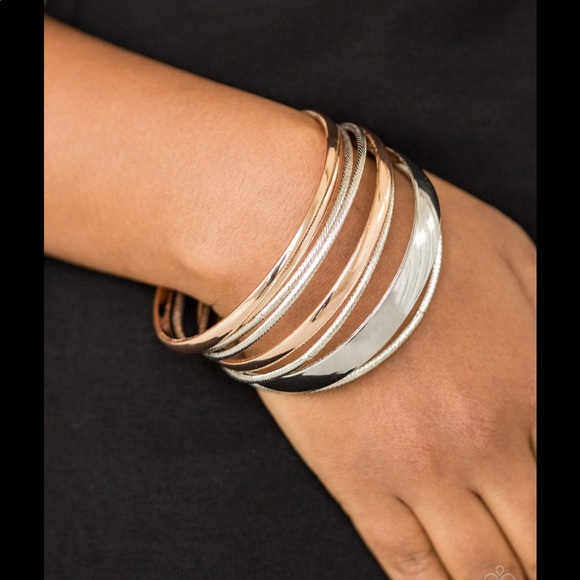 Sahara Shimmer Rose Gold and Silver Bracelet